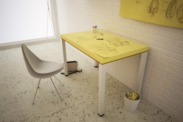 Post-It Note Desk
